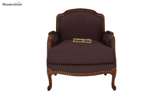 Margret 1 Seater Sofa (Fabric, Classic Brown)-2