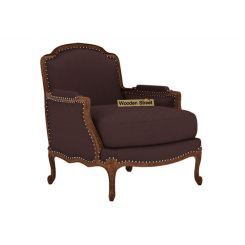 Margret 1 Seater Sofa (Fabric, Classic Brown)