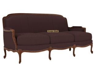Margret 3 Seater Sofa (Fabric, Classic Brown)