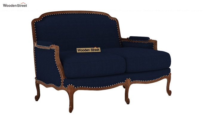 Margret 2 Seater Sofa (Fabric, Indigo Ink )-1