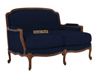 Margret 2 Seater Sofa (Fabric, Indigo Ink )