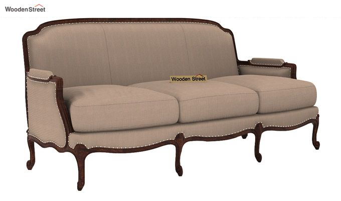 Margret 3 Seater Sofa (Fabric, Irish Cream)-1