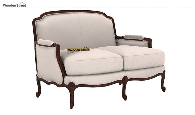 Margret 2 Seater Sofa (Fabric, Ivory Nude)-1