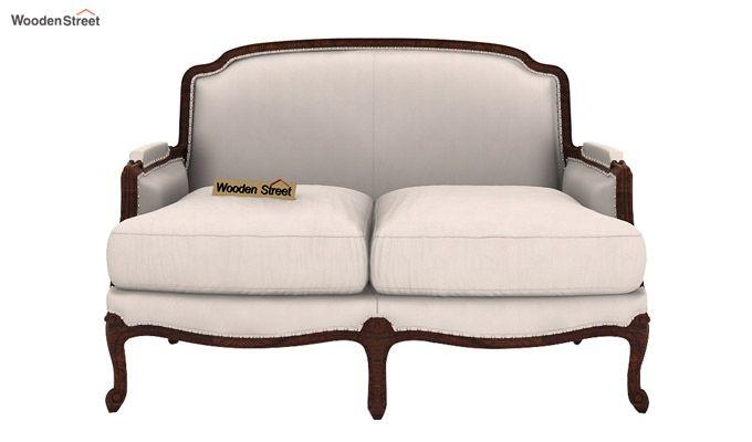 Margret 2 Seater Sofa (Fabric, Ivory Nude)-2
