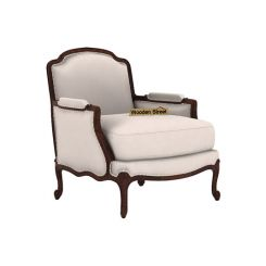Margret 1 Seater Sofa (Fabric, Ivory Nude)