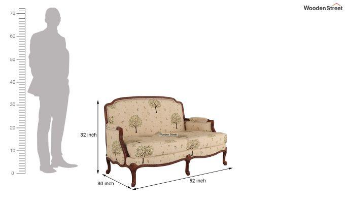 Margret 2 Seater Sofa (Linen, Beige Pomme)-10