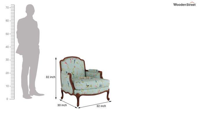 Margret 2 Seater Sofa (Linen, Bubble Robins)-9