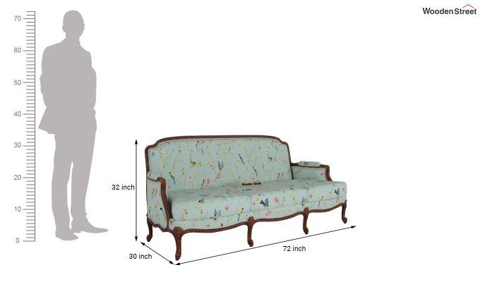 Margret 2 Seater Sofa (Linen, Bubble Robins)-11