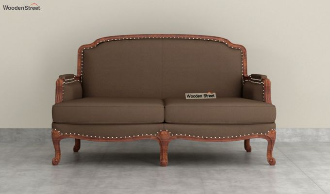 Margret 2 Seater Sofa (Fabric, Classic Brown )-3