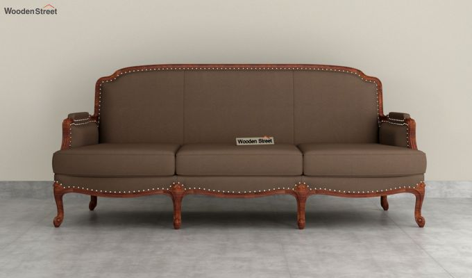 Margret 2 Seater Sofa (Fabric, Classic Brown )-8