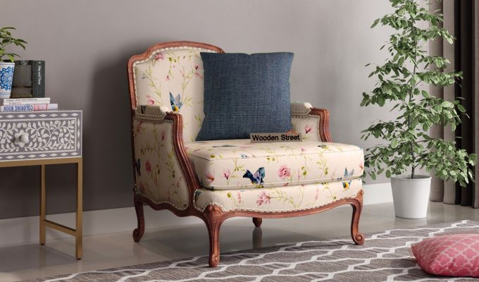 Margret 2 Seater Sofa (Linen, Cream Robins)-5
