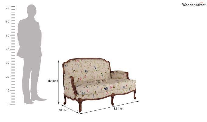 Margret 2 Seater Sofa (Linen, Cream Robins)-10