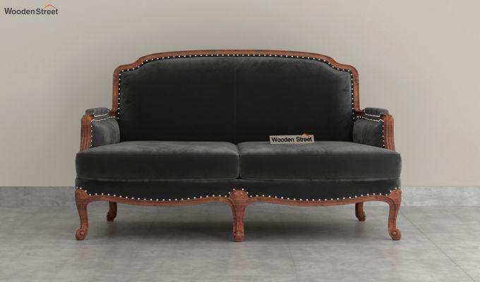 Margret 2 Seater Sofa (Velvet, Graphite Grey)-3