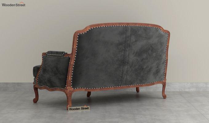 Margret 2 Seater Sofa (Velvet, Graphite Grey)-4