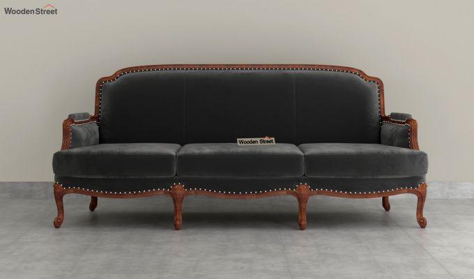 Margret 2 Seater Sofa (Velvet, Graphite Grey)-8