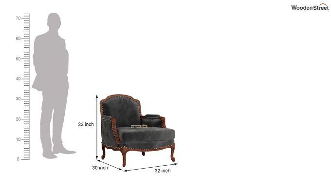Margret 2 Seater Sofa (Velvet, Graphite Grey)-9