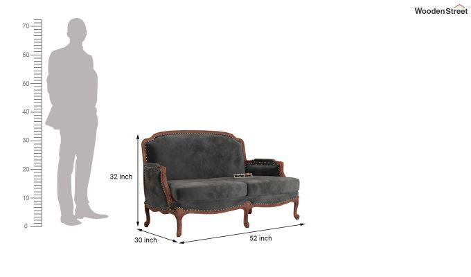 Margret 2 Seater Sofa (Velvet, Graphite Grey)-10