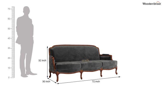 Margret 2 Seater Sofa (Velvet, Graphite Grey)-11