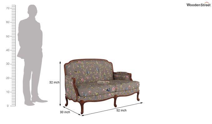 Margret 2 Seater Sofa (Linen, Grey Robins)-10