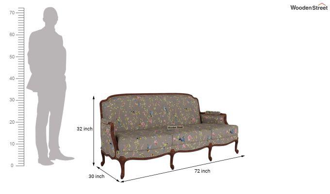 Margret 2 Seater Sofa (Linen, Grey Robins)-11