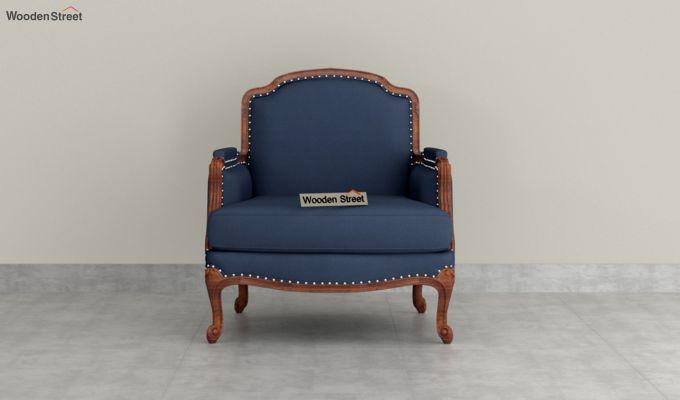 Margret 2 Seater Sofa (Fabric, Indigo Ink )-6
