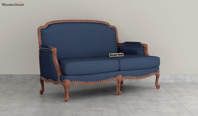 Margret 2 Seater Sofa (Fabric, Indigo Ink )-2