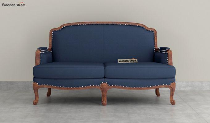 Margret 2 Seater Sofa (Fabric, Indigo Ink )-3