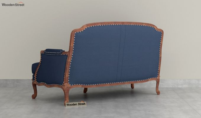 Margret 2 Seater Sofa (Fabric, Indigo Ink )-4