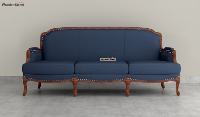 Margret 2 Seater Sofa (Fabric, Indigo Ink )-8
