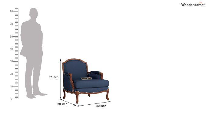 Margret 2 Seater Sofa (Fabric, Indigo Ink )-9