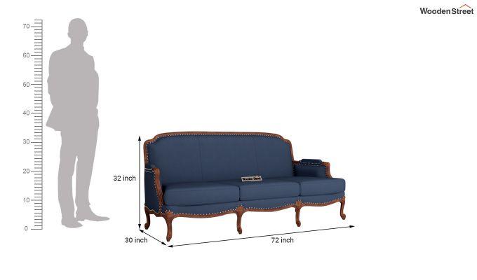 Margret 2 Seater Sofa (Fabric, Indigo Ink )-11