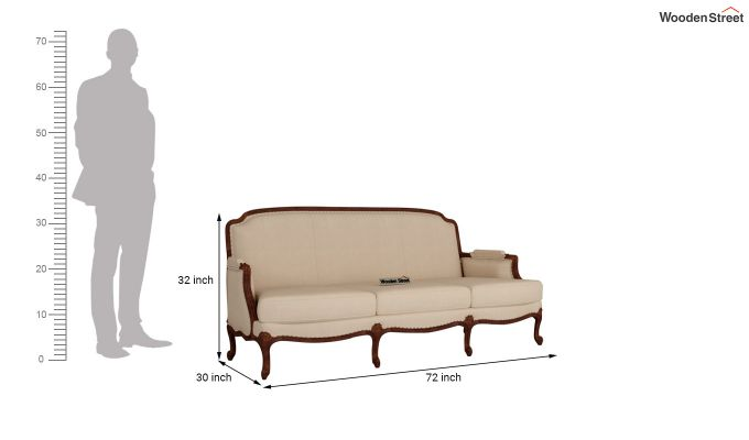 Margret 2 Seater Sofa (Fabric, Irish Cream)-11