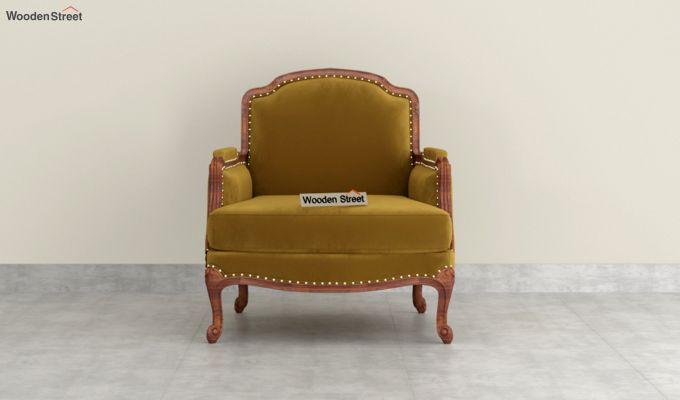 Margret 2 Seater Sofa (Velvet, Chestnut Brown)-6