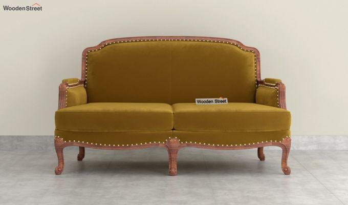 Margret 2 Seater Sofa (Velvet, Chestnut Brown)-3