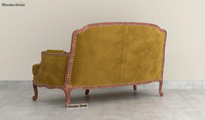 Margret 2 Seater Sofa (Velvet, Chestnut Brown)-4