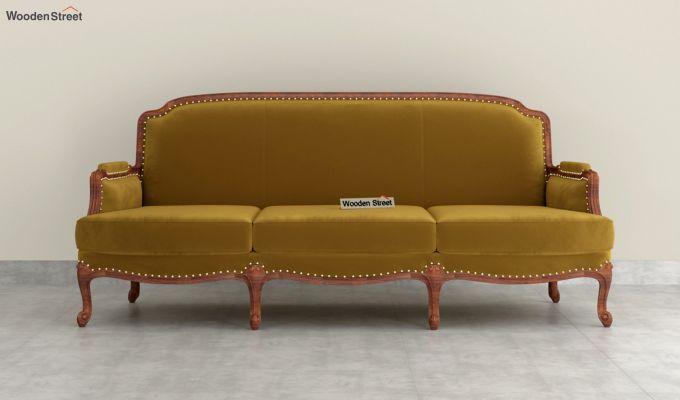 Margret 2 Seater Sofa (Velvet, Chestnut Brown)-8
