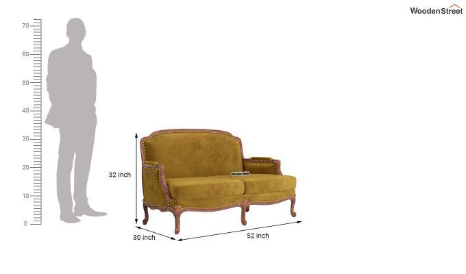 Margret 2 Seater Sofa (Velvet, Chestnut Brown)-10