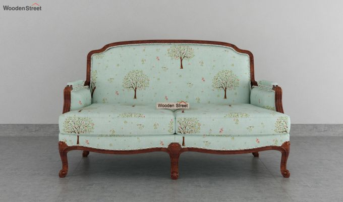 Margret 2 Seater Sofa (Linen, Teal Pomme)-5
