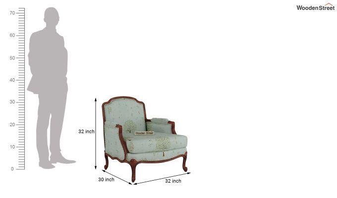 Margret 2 Seater Sofa (Linen, Teal Pomme)-9