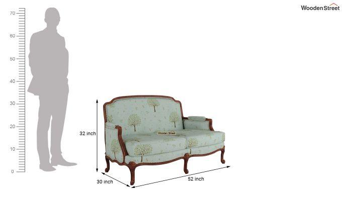Margret 2 Seater Sofa (Linen, Teal Pomme)-10
