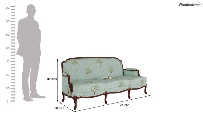 Margret 2 Seater Sofa (Linen, Teal Pomme)-11