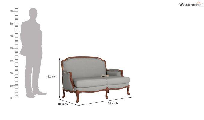 Margret 2 Seater Sofa (Fabric, Warm Grey )-10