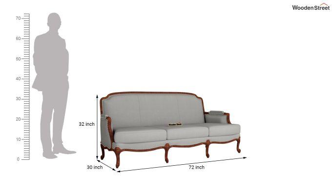 Margret 2 Seater Sofa (Fabric, Warm Grey )-11