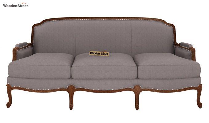Margret 3 Seater Sofa (Fabric, Warm Grey)-2