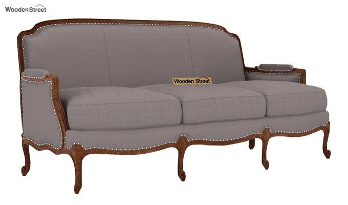 Margret 3 Seater Sofa (Fabric, Warm Grey)-1
