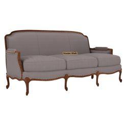 Margret 3 Seater Sofa (Fabric, Warm Grey)