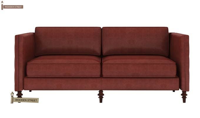 Marley 3 Seater Sofa (Leatherette, Burnt Umber)-2