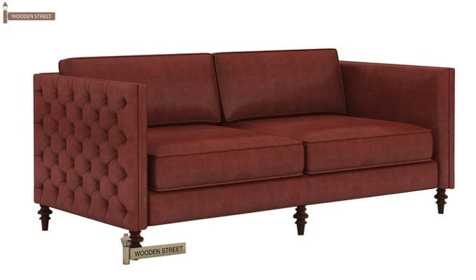 Marley 3 Seater Sofa (Leatherette, Burnt Umber)-3