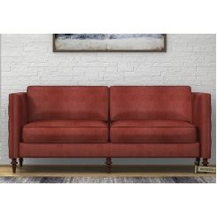Marley 3 Seater Sofa (Leatherette, Burnt Umber)