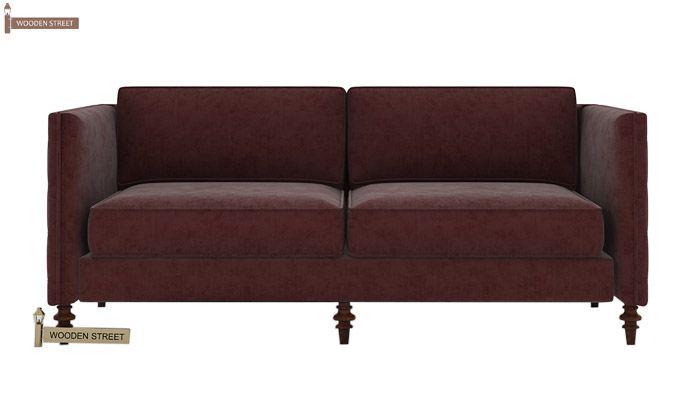 Marley 3 Seater Sofa (Velvet, Smocked)-2